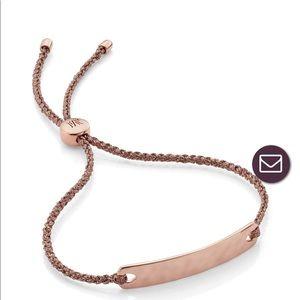 Mini rose gold Monica Vinader friendship bracelet